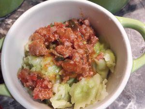 Cassolettes de ravioles à la farce de tomate
