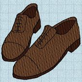 Broderie machine : chaussures homme - cathy73