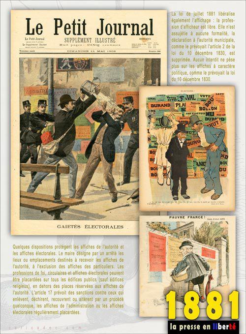 1881, LA PRESSE EN LIBERTE : une exposition itinérante à louer