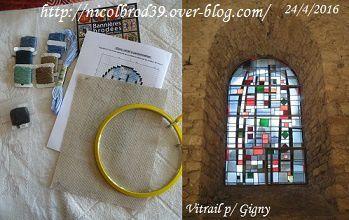 Défi 2013 et plus, vitrail pour Gigny 1