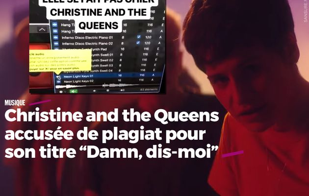 "Christine and the Queens accusée de plagiat pour son titre ""Damn, dis-moi"" (mis à jour) #copie"