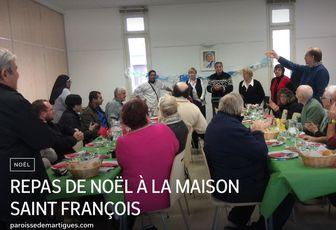 REPAS DE NOËL À LA MAISON SAINT FRANÇOIS