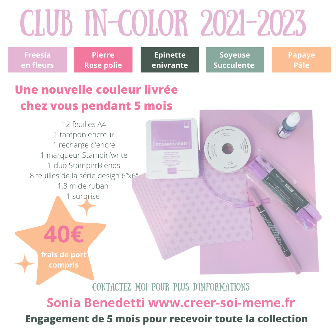 club in color stampin up scrap carterie loisirs créatifs fournitures offre speciale