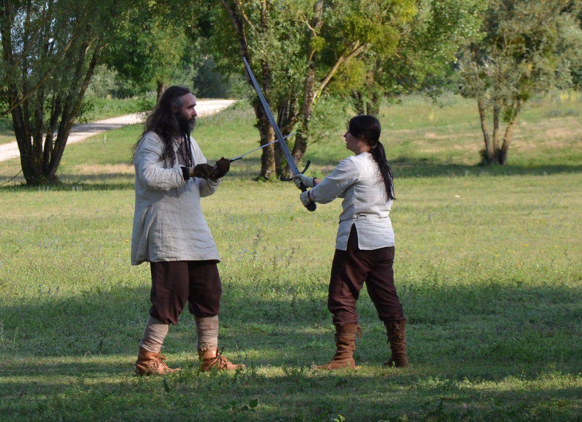 Le combat : à l'épée