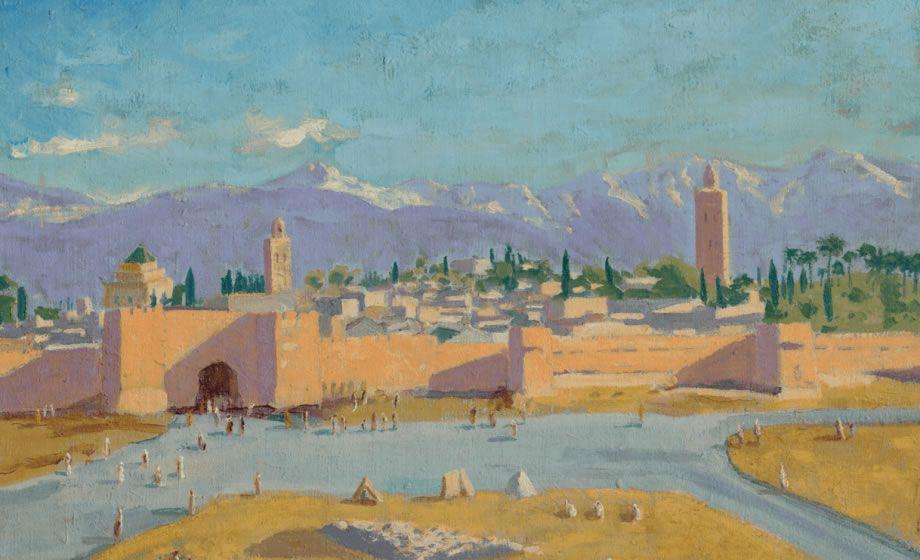 """""""La Tour de la mosquée Koutoubia"""" de sir Winston Churchill."""