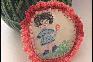 """Posca"", tissu, crochet...."