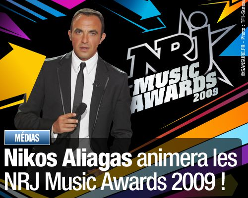 Nikos Aliagas animera les NRJ Music Awards 2009