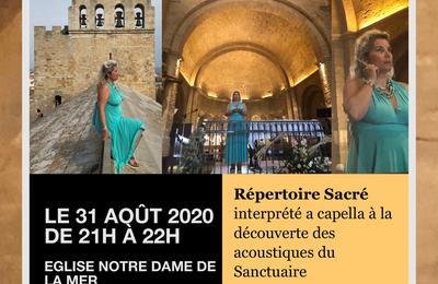 "Veronica Antonelli ""Divine Recital"" 31 aout 2020 aux Saintes-Maries-De-La-Mer"