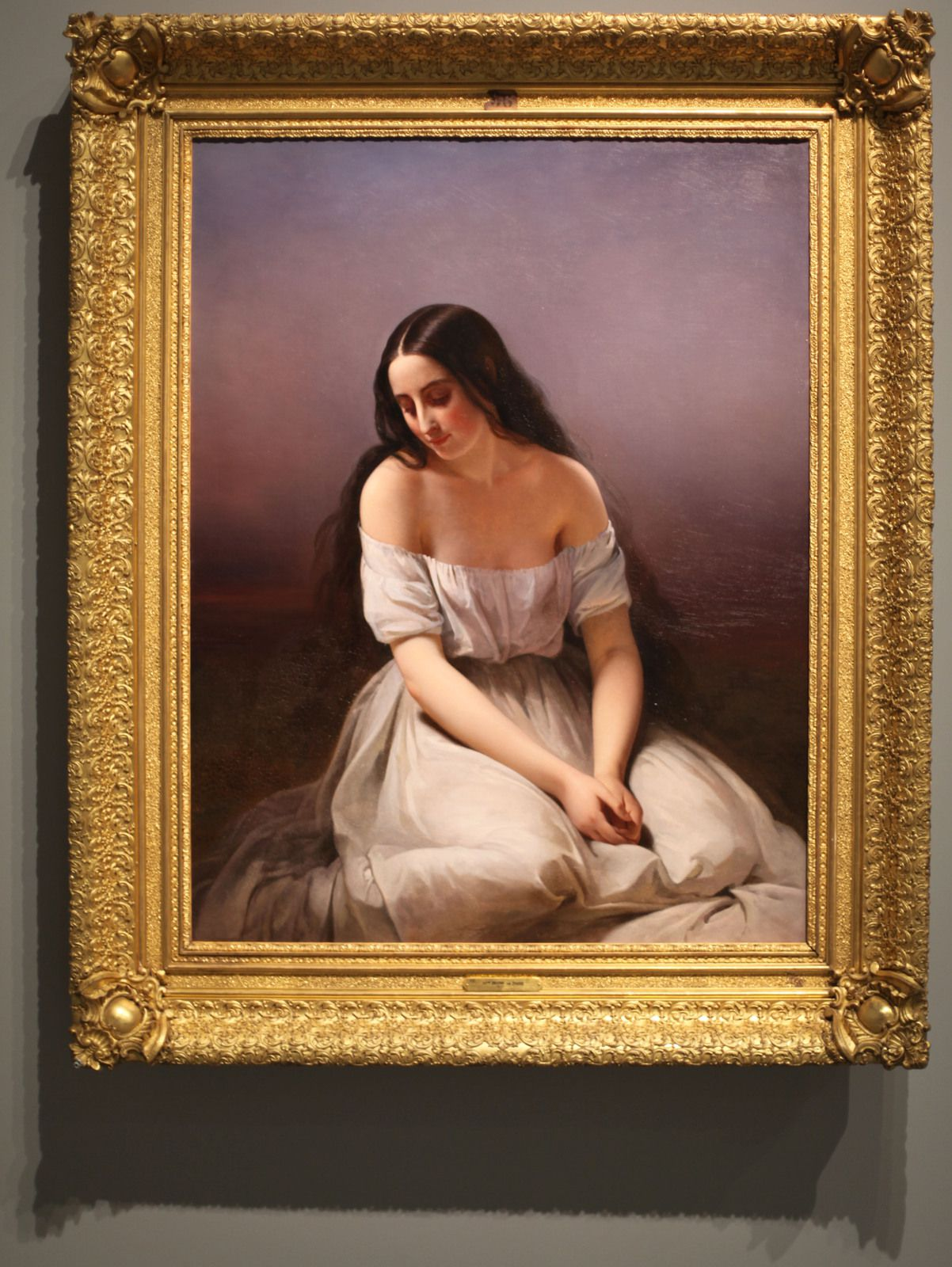 """""""Une jeune fille à genoux"""", 1839 d'Aimée BRUNE (1803-1866) - Courtesy Beaux-Arts de d'Orléans © Photo Éric Simon"""