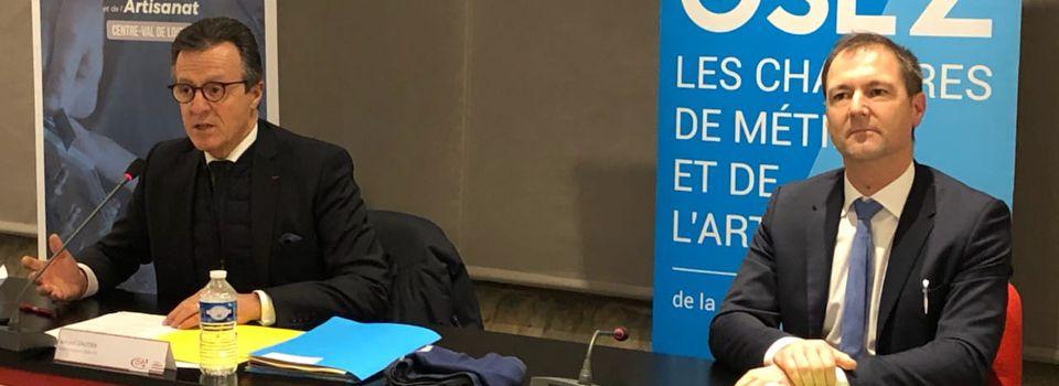 Installation de la Chambre de Métiers et de l'Artisanat Centre-Val de Loire: stratégie, missions, champs d'intervention et élus du  bureau