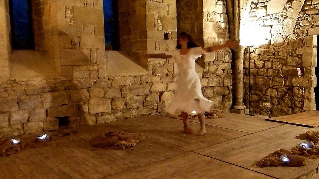 """Captations Vidéo de """"SouffleS"""" Performance de danse Butō par Mā Thévenin à l'Abbaye de Villelongue le 13 Juin 2018"""