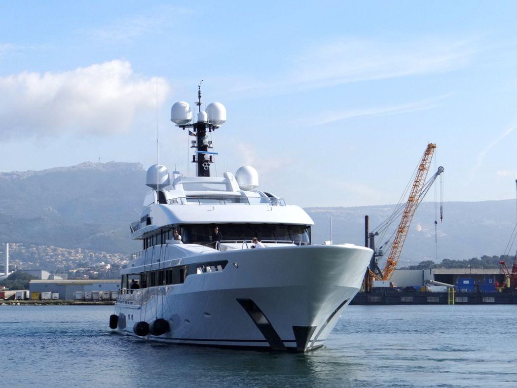ASTRID CONROY , A quai et en manoeuvre portuaire  à la Seyne sur Mer le 23 mai 2018