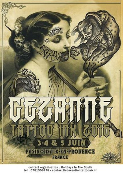 Cezanne Tattoo ink 2016