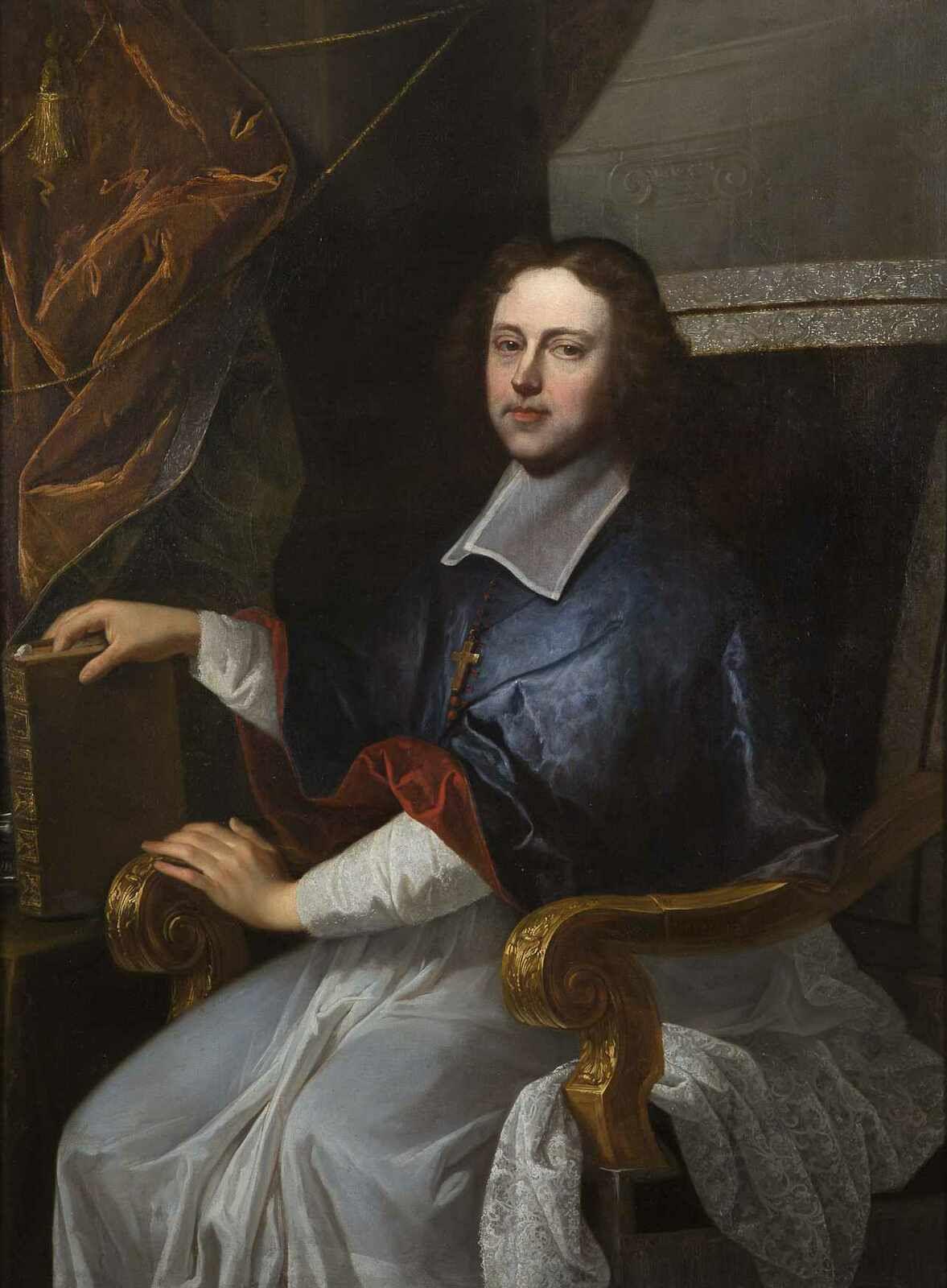 Atelier de Hyacinthe Rigaud, portrait de l'évêque de Tournai, Caillebot de La Salle. France, collection privée © droits réservés au propriétaire de l'oeuvre