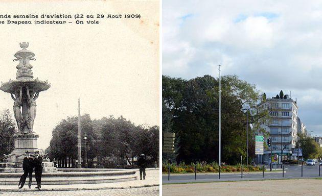 La Fontaine Bartholdi et la Grande Semaine d'Aviation - 1909