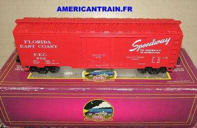 Wagon Reefer Car Florida East Coast 3 rails échelle O MTH
