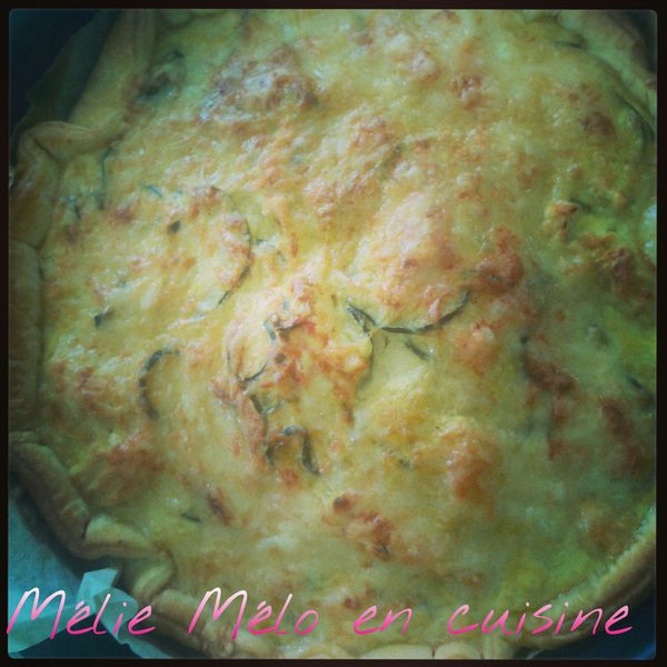 quiche poulet et courgette au curry