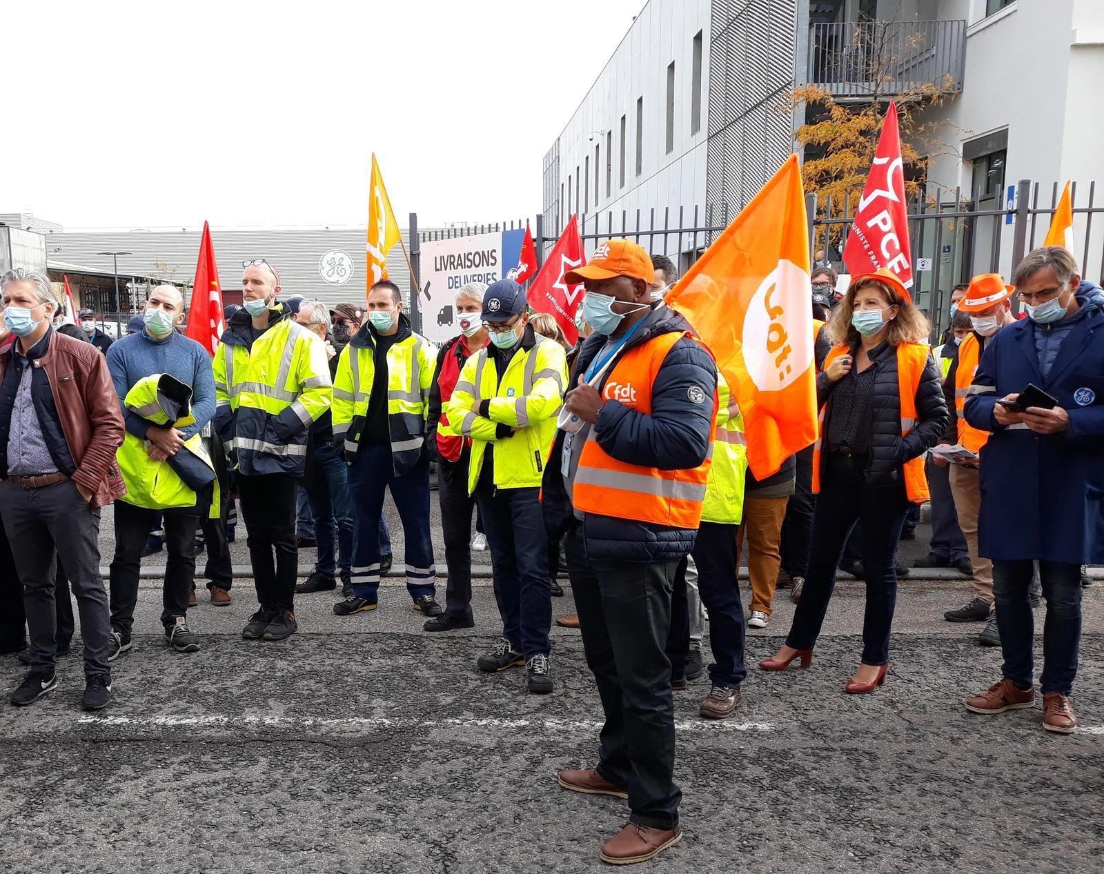 Rasemblement de lutte à GE Villeurbanne le 28 octobre