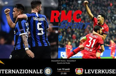 Inter de Milan / Leverkusen (1/4 Europa League) en direct ce lundi sur RMC Sport 2 !