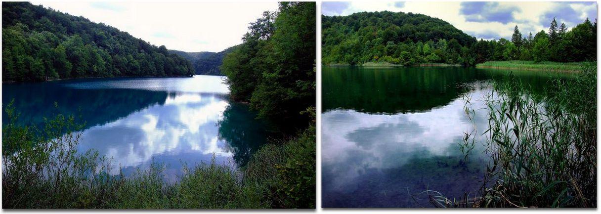 Les lacs inférieurs, moins profonds et plus calmes...
