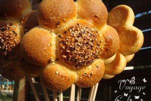 Petits pains marguerites