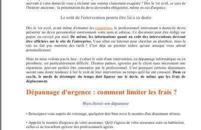 COMMUNIQUE AFOC 13 - DEPANNAGE A DOMICILE