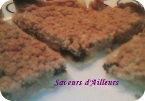 Pour un dessert Rapide, simple et excellent... un délicieu Crumble poire/prunaux