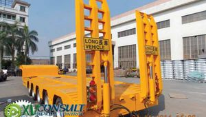 1/ Semi Remorques Porte Engins 5 Essieux Directionnels Chine - Semi Trailers Lowbed 5 axles China - Semi Trailers Lowbed Africa - آلات البناء أنصاف المقطورات ال