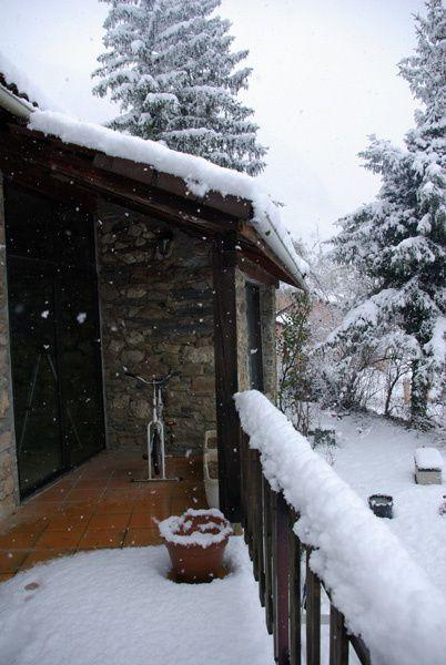 Il neige sur Vebre en janvier 2013 et c est parti pour durer Le Pelerin