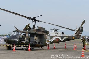 """Fuji Bell UH-1J special marking """"Nikko Formation"""" for 42 years of Camp Kitautsunomyia"""