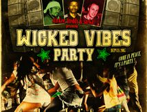 Flyers Wicked vibes party & Stickee Lion