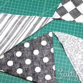 Fabric Bunting with One-Piece Triangles
