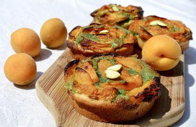 Tartelettes abricots et pistache