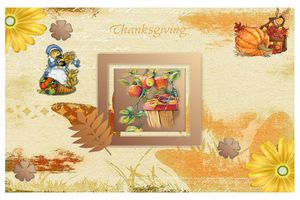 Carte à imprimer ~Thanksgiving~
