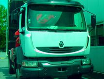 Camion Renault MIDLUM 220 DCI Benne Grue 4x4