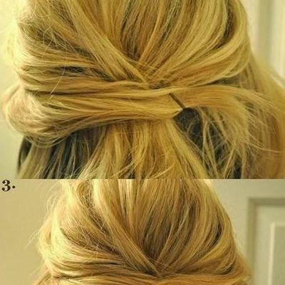 My new top knot, beautiful and easy to make.