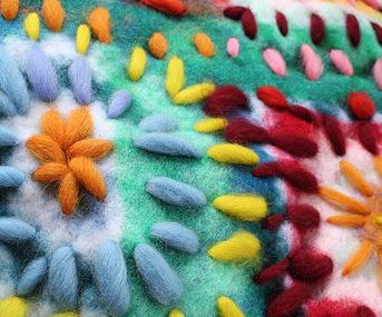 Stitching on felt