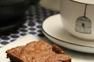 Brownie chocolat gingembre