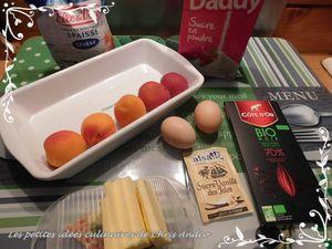Clafoutis aux abricots frais & chocolat