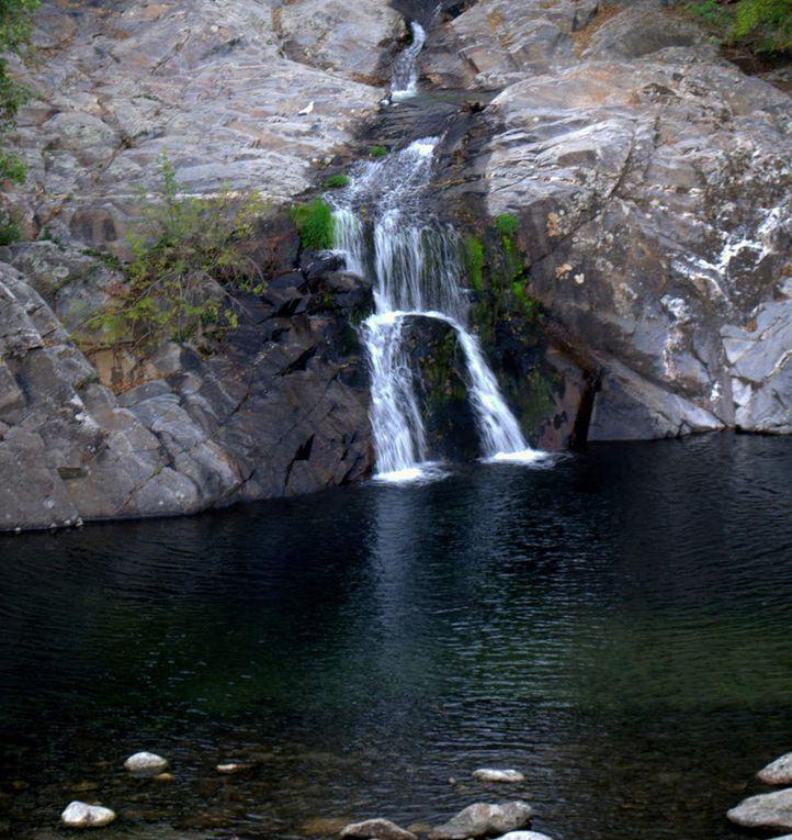 Les Gorges de la Colombières vus du village de Colombières-sur-Orb et du plateau du Caroux
