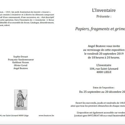 Papiers, fragments et grimoires