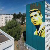 Street art : un portrait géant de Jacques Brel dévoilé à Vesoul