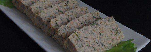 Terrine de saumon et sauce mousseline orange et ciboulette