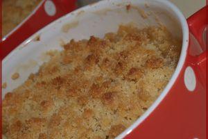 Crumble Pommes - Mirabelles et Amandes