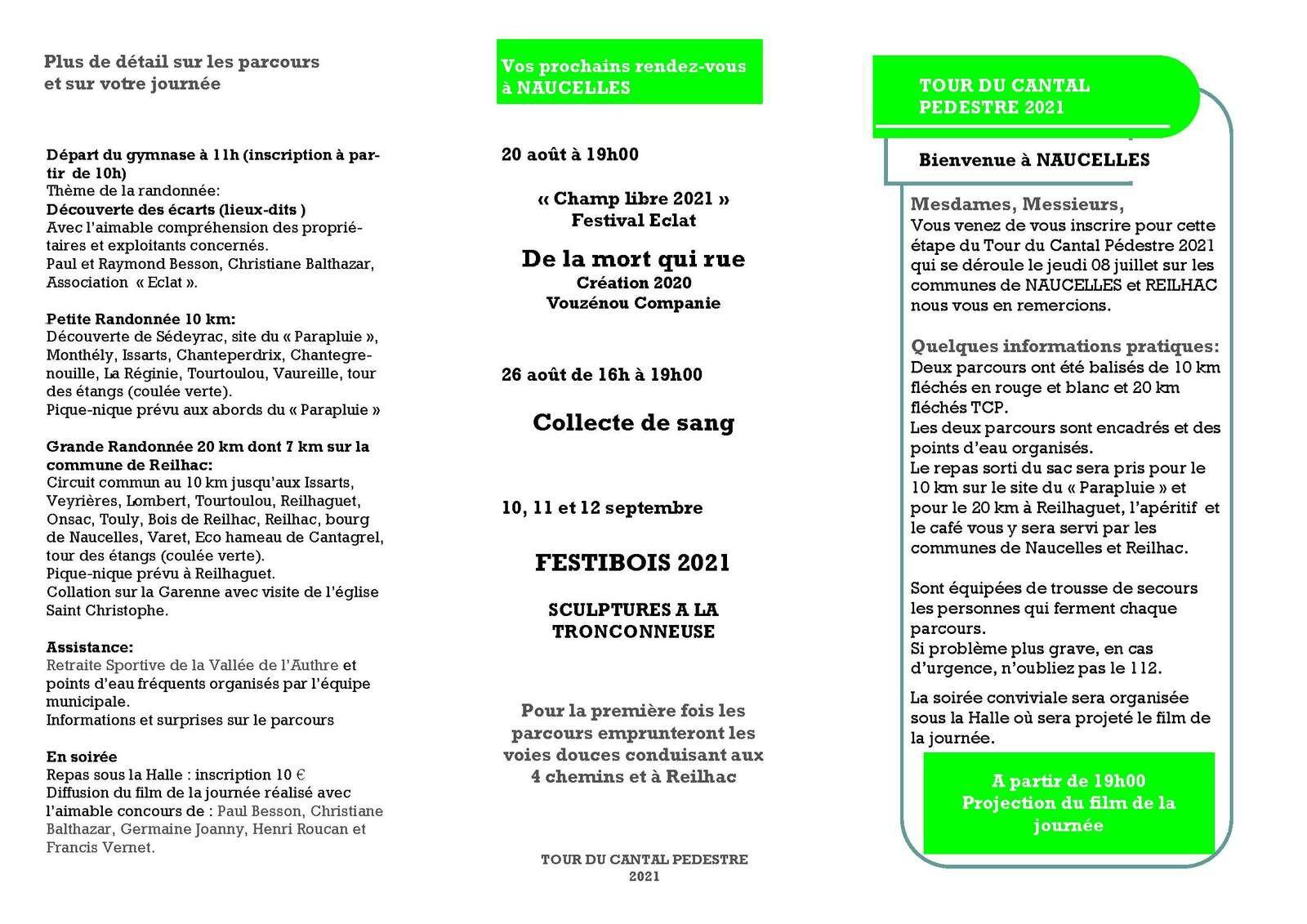 08/07/2021: NAUCELLES - REILHAC - Tour du Cantal pédestre
