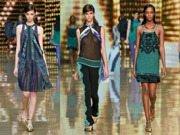 Trasparenze sensuali negli abiti di Roberto Cavalli per la collezione primavera estate 2015