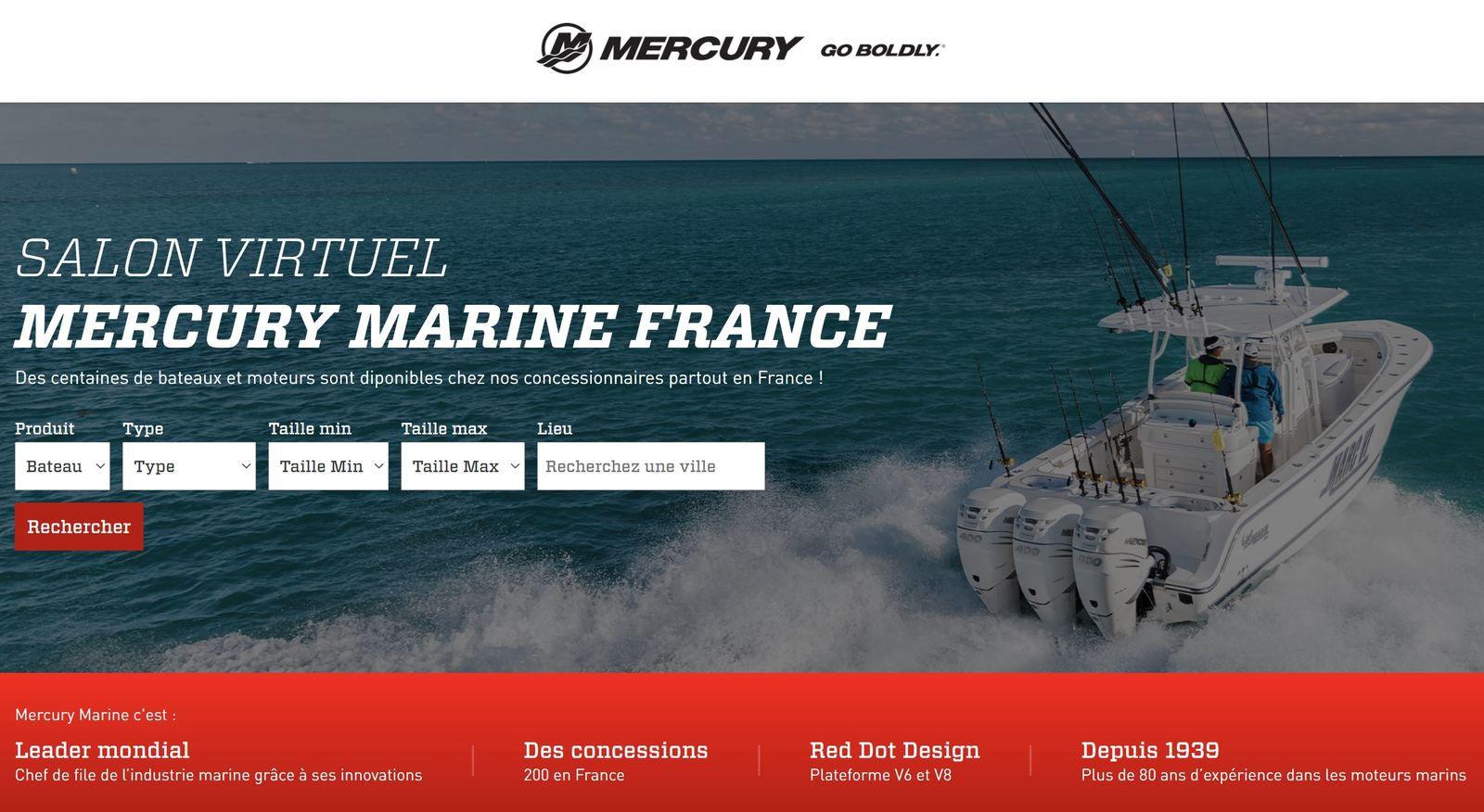 Mercury Marine France lance sa Marina Virtuelle : des centaines de bateaux et de moteurs à la vente !