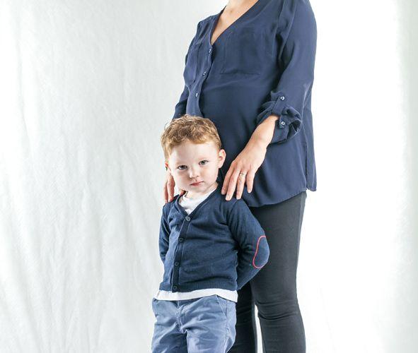 19 septembre - Portrait en studio d'une maman enceinte et son fils