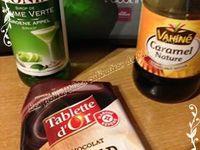 Bavarois pomme, caramel et chocolat