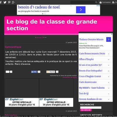 Le blog de la classe de grande section